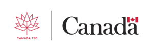 Canada 150 logo and Government of Canada logo